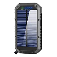 Solar Charger, 25000mAh Solar Power Bank...