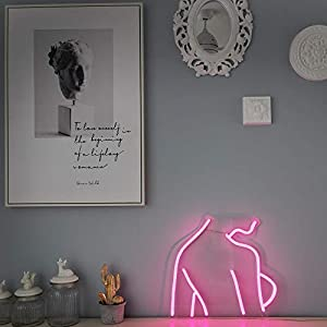 Hot Back LED Neon Sign Lights Art Wall Decorative Lights (Pink)