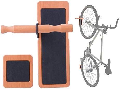 Estante de pared para bicicleta, de madera, para almacenamiento en ...