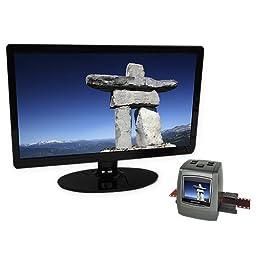 "Magnasonic All-In-One High Resolution 22MP Film Scanner, Converts 126KPK/135/110/Super 8 Films, Slides, Negatives into Digital Photos, Vibrant 2.4"" LCD Screen, Impressive 128MB Built-In Memory"