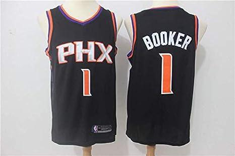 Phoenix Suns #1 Trikot Jersey Stickerei Anzug Sommer Basketball Anzug Hemd Tr/ägershirt Fitness trikotjerseyNBA Devin Booker