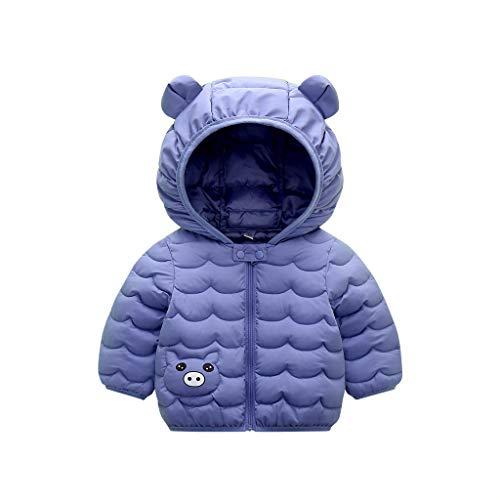 clacce Kleinkind Baby Mädchen Winter Cartoon Winddichter Mantel Kapuze Warme Outwear Jacke Mädchen Ultraleichte Daunenjacke,mit Kapuze Herbst Winter Leichte Babys Kurz