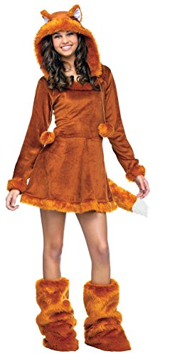Fox Halloween Costumes (Fun World Sweet Fox Teen Costume, Tan, One Size)