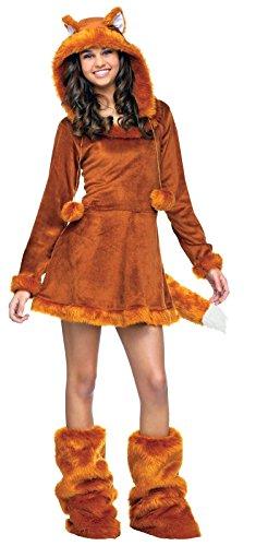 Halloween Costumes For Teen (Fun World Sweet Fox Teen Costume, Tan, One Size)