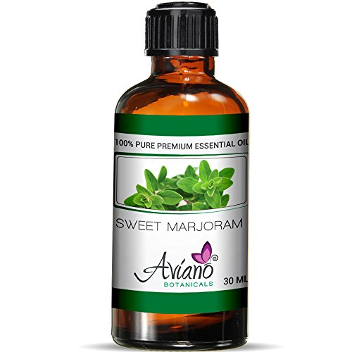 Sweet Marjoram Essential Oil - 100% Pure Blue Diamond Therapeutic Grade By Avíanō Botanicals (30 ml) ()