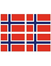 KIWISTAR Stickers 4,5 x 3,2 cm Noorwegen - Land staat autosticker vlag landen wapen vlag sticker kenteken