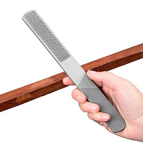 LXB Wood Rasp with Premium Grade High Carbon Hand File and Round Rasp, Half Round Flat & Needle Files. Best Wood Rasp Set (2 Pieces)