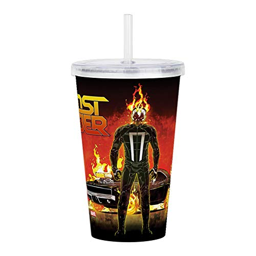 CafePress Ghost Rider Car Acrylic Double Wall Tumbler Insulated Straw Cup, 20oz Acrylic Double-Wall Tumbler