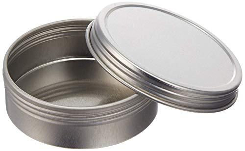 Screw Top Round Steel Tins, 4oz (24 Per Pack) ()