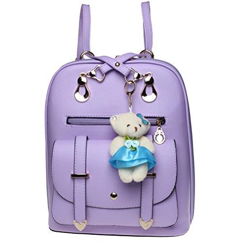Fashion Leather Backpack Daypack Shoulder