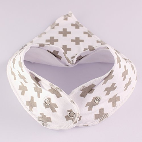 Amazon.com : BayBee Bandana Drool Bib, Organic Cotton w/ Snaps ...