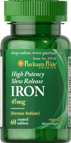 puritans-pride-high-potency-slow-release-iron-45-mg-60-tablets