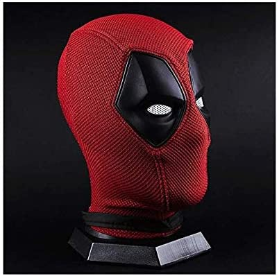 BBBL Deadpool Wade Wilson Mask Helmet Knitted Cosplay Costume Accessories Props Red