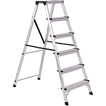 Giantex 6 Step Folding Step Ladder Aluminum Stepladder