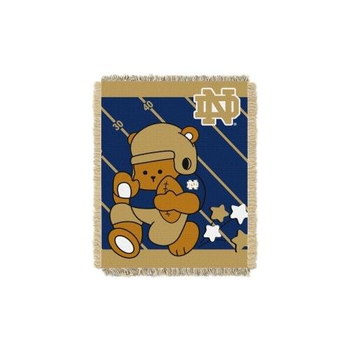 - The Northwest Company Officially Licensed NCAA Notre Dame Fighting Irish Fullback Woven Jacquard Baby Throw Blanket, 36