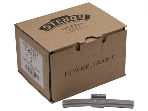 Box of 25 Coated Steel Truck Wheel Weights 2.0 ounce