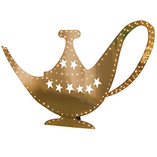 TCDesignerProducts Light-up Genie Lamp Cardboard Standup Kit, 44 Inches High x 6 Feet Wide ()