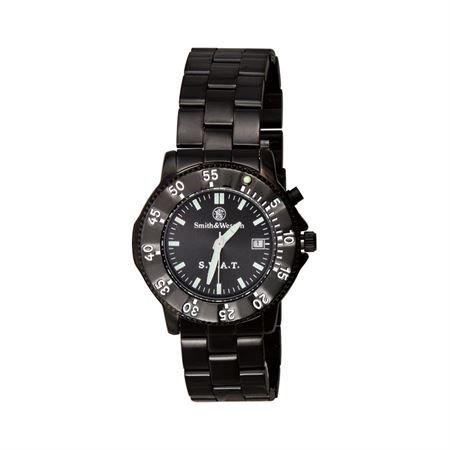 Smith & Wesson Men's SWW-45M S.W.A.T. Black Metal Strap Watch