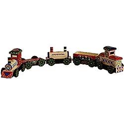 Tren articulado de madera (5 piezas)