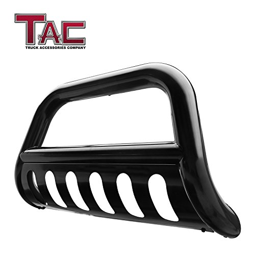 "Guards Suv Brush - TAC 3"" Black Bull Bar Custom Fit 2018-2019 Jeep Wrangler JL SUV Front Bumper Grille Guard Brush Guard with Skid Plate Off Road Accessories for Jeep Wrangler JL 3inches Bumper Guard"