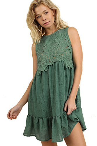 Dress Lovely Forrest Lace in Gauze Lace Umgee Bodice with Tx86wI6q