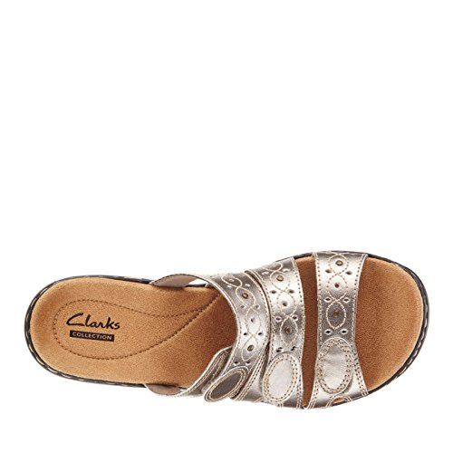 f7720bffe3c7 ... Clarks Women s Leisa Cacti Q Pewter Leather Sandal 6 D - Wide WBCeqZCoa  ...