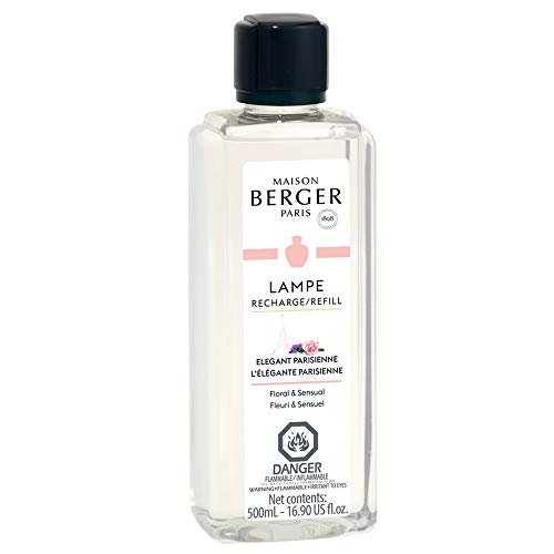 Elegante Parisienne - Lampe Berger Fragrance Refill for Home Fragrance Oil Diffuser - 16.9 Fluid Ounces - 500 milliliters