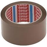 6 Rollen TESA 64014 PP Klebeband / Packband / Paketband / Paketklebeband / Leise abrollend - BRAUN