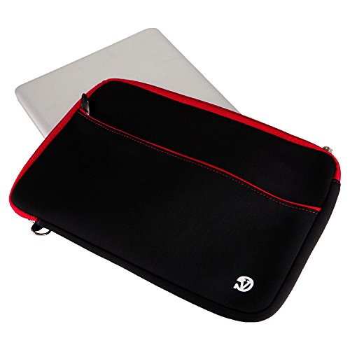 Mens Laptop Bag Tablet Sleeve Case Messenger Bag 13.3inch + HDMI Cable for Dell Inspiron 13 / Chromebook / Alienware / XPS 13 / Chromebook 13 / XPS 12 / Inspiron 13 7000 / Alienware 13 Black with Red Trim Eefyzu