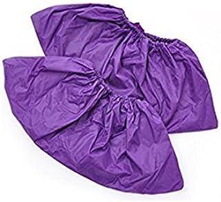 réutilisable à chaussures Covers-waterproof-wearproof-dustproof-mudproof durable, épais Material-one Taille Compatible avec tous les modèles jusqu'à XL, Violet (10paires)