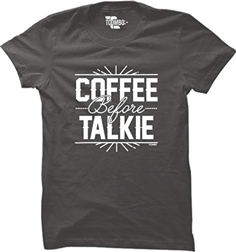 - Coffee Before Talkie Women's T-Shirt (Charcoal, XX-Large)