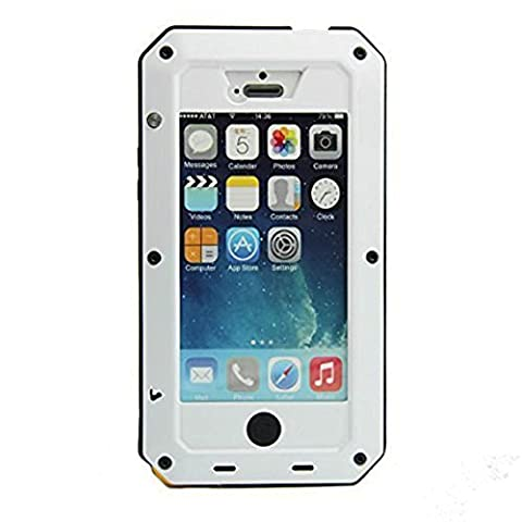 iPhone 5C Case,Gorilla Glass Luxury Aluminum Alloy Protective Metal Extreme Shockproof Military Bumper Heavy Duty Cover Shell Case Skin Protector for Apple iPhone 5C (Aluminum Metal Iphone 5c Case)