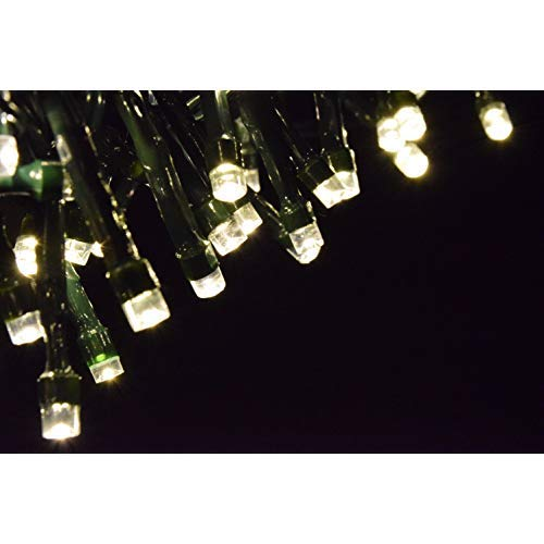 ProductWorks Brilliant Net Micro Clear Cap 150 LED Lights with 8 Function Lighting and Green Cord