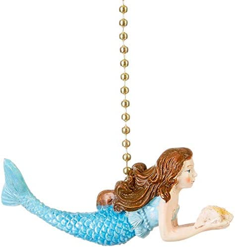 Coastal Mermaid Siren of the Sea Ceiling Fan Pull  or Light Pull Chain