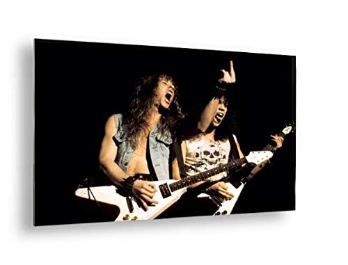 Photo of Metallica and Kirk Hammett and James Hetfield - Aluminum, Mounted, 36x24