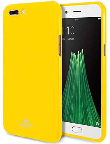 Goospery Pearl Jelly for Oppo R11 Plus Case (2017) with Screen Protector Slim Thin Rubber Case (Yellow) OPPOR11P-JEL/SP…