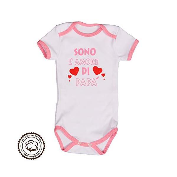 Repanda Body Neonato Divertenti - 2 Dolci Idee Regalo: Sono l'amore di Mamma e Papà - 100% Cotone - Body Manica Corta 6