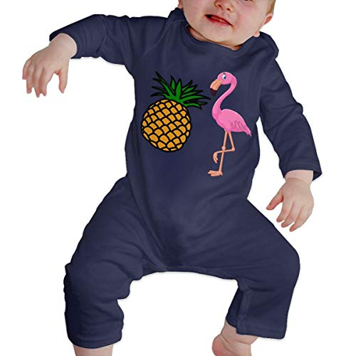 Baby Boys Girls Romper Hawaii Flamingo and Pineapple Long Sleeve Baby Clothes