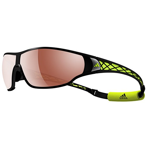 adidas evil eye halfrim pro L a167-6054 Rectangle Sunglasses,Matte Black & Gray Frame/LST Active Silver/LST Bright Lens,One Size (Adidas Evil Eye Pro L)