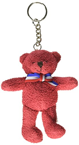 Star Spangled Fourth of July Party Patriotic Red, White and Blue Suede Teddy Bear Keychain Favours, Fabric, 4
