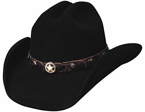 Bullhide Montecarlo COLT 45 Premium Wool Western Hat Black (Colt 45 Hat)