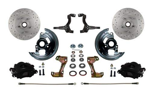 Front Brake Disc Spindle Stock (Leed Brakes BFC1002-F05X Front Disc Brake Kit w/Stock Height Spindles GM A/F/X-B)