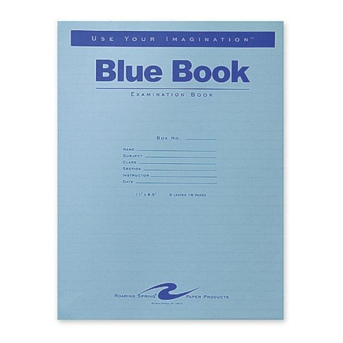 Review Wholesale CASE of 10 – Roaring Spring Blue Examination Books-Exam Book, Wide Ruled, 8 Shts, 11″x8-1/2″, 50/PK, Blue