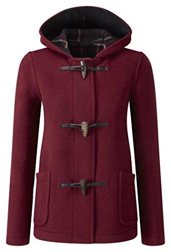 Montgomery Duffle Femme Court Bordeaux Rouge Coat Original xfBq5Cwdw