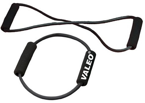 Valeo Dual Resistance Bands With Durable Natural Rubber Tubing And Cushioned Foam Handles For (Valeo Stretch Bands)
