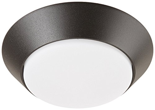 Lithonia Lighting 7 inch Round LED Flush Mount Thin Ceiling Light, Black Bronze, 4000K, Dimmable, Wet Listed