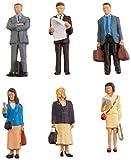 #8: Bachmann Industries SceneScapes Standing Platform Passengers Miniature Figures (6 Piece)