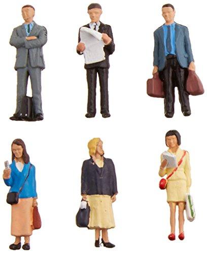 Bachmann Industries SceneScapes Standing Platform Passengers Miniature Figures (6 Piece) (People Ho Scale)