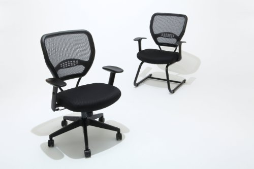 space seating airgrid dark back and black mesh seat 2 to 1 synchro
