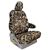 Custom Fit Dodge Ram Pickup 1500 Seat Covers (2011-2016) Rear Seat Set - in Realtree Camo Max-4 print - Solid Fold Up Bench w/ 3 Adjustable Headrests (1500 Model Quad Cab)